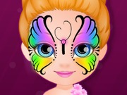 baby barbie face painting