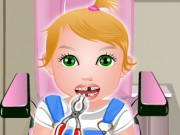 baby juliet at the dentist